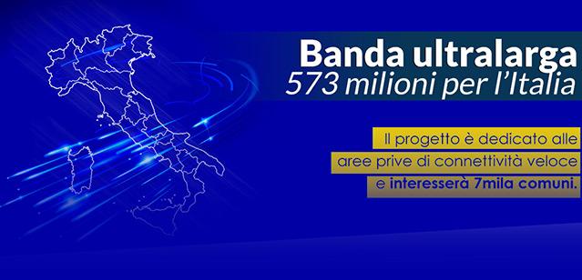 Banda Ultralarga 573 Milioni per l'Italia